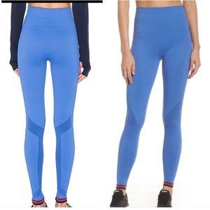LNDR blue high rise striped leggings XS S